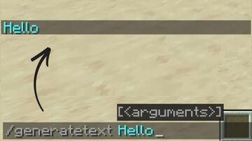 Text Generator Minecraft Mod