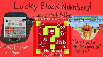 Lucky Block Numbers Minecraft Mod