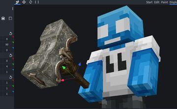 Just Hammers (Custom Model) Resource Pack - Minecraft 1.16.4 - Java Minecraft Mod