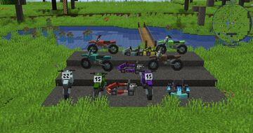 Race Cars and Bikes mod - now with vehicle dyeing Minecraft Mod