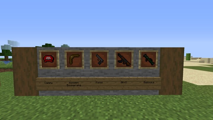 The ranged weapons