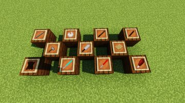 mod for melee weapons from different eras and worlds Minecraft Mod