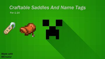 Craftable saddles and name tags Minecraft Mod