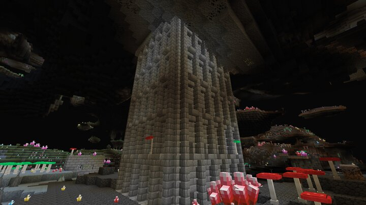 Villager castle in the cave dimension