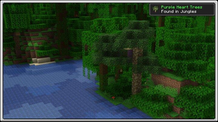 Purple Heart Trees in Jungles