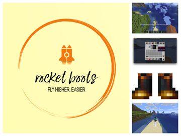 Rocket Boots Minecraft Mod
