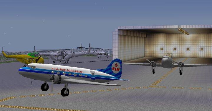 DC-3, S55,aw139