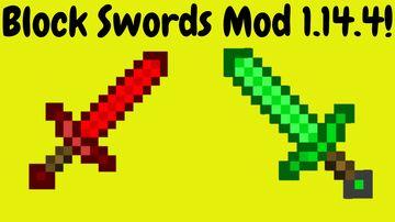 Block Swords Mod 1.14.4! Minecraft Mod