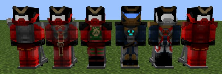 All Samurai X Suits 2012, 2014, 2015, 2017, 2018, Legacy