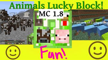 Animals Lucky Block Minecraft Mod
