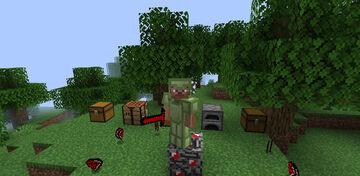 new mod the gold guns and blue emerald Minecraft Mod