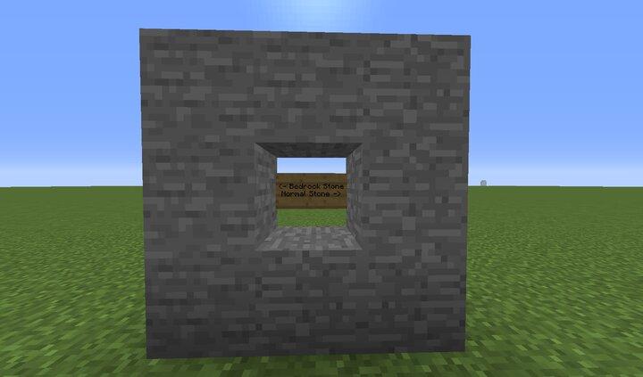 Bedrock Stone vs Normal Stone