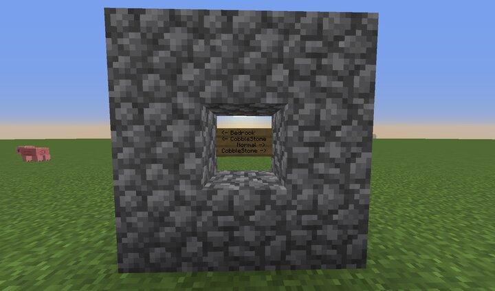 Bedrock Cobblestone vs Normal Cobblestone