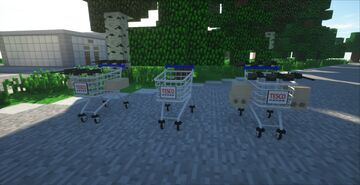 Tesco carts for MCHELI 1.0.4 Minecraft Mod