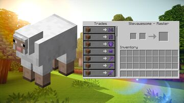 Minecraft But Sheep Trades Are OP (For Bedrock Edition) Minecraft Mod