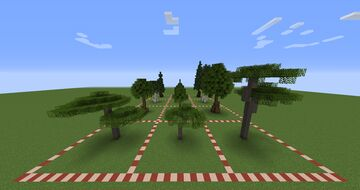 12 Custom Trees - WorldPainter Minecraft Mod
