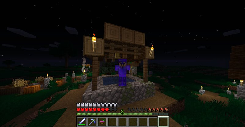 Night in the new village dimension!