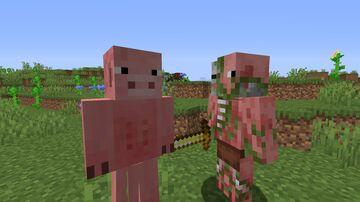 Pigman & Zombie Pigman! Minecraft Mod