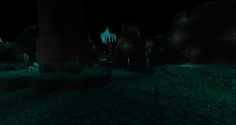 The Moonlight Swamp biome