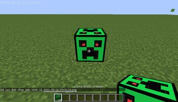 Creeper Lucky Block but with creeper armor (v1.2) Minecraft Mod