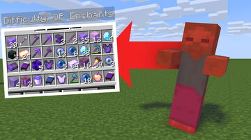 Minecraft, But Mobs Give Op Enchants Minecraft Mod