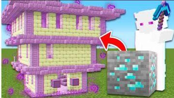 Minecraft But Ores Spawn OP Structures! Minecraft Mod