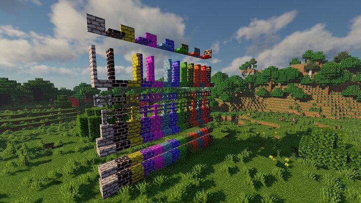 ColoredBrick,wall,fence,fence gate,door,trappdor,slab