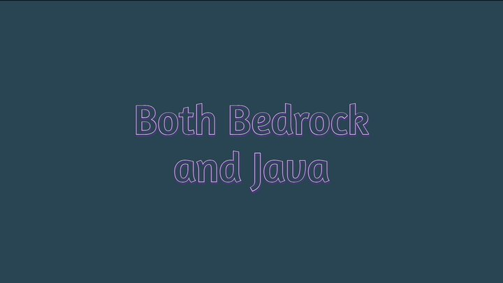 Supports Bedrock and Java!