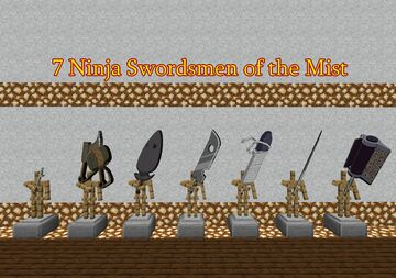 7 Ninja Swordsmen of the Mist Minecraft Mod