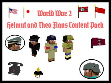 Helmut and Theo WW2 Flans Content Pack (NEW DECORATIONS!) Minecraft Mod