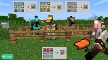 Craftable Horse Armour & Saddle Minecraft Mod