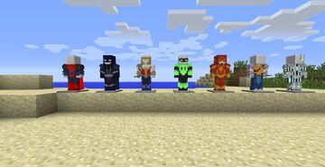 Justice League Customs Pack for Fiskheroes Minecraft Mod
