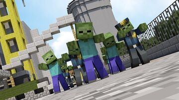 Survival to Zombie city Minecraft Mod