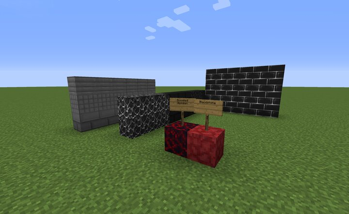 Some of the blocks placed around.