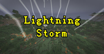 Minecraft, but lightning has always followed the player, lightning rods have become very important!!! Minecraft Mod