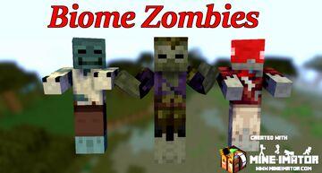 Biome Zombies Minecraft Mod