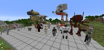 Chronokiller's  Star Wars 131 Mobs , ships, speeders and turrets 1.15.2 Minecraft Mod