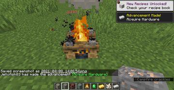 Campfire Smelt Minecraft Mod