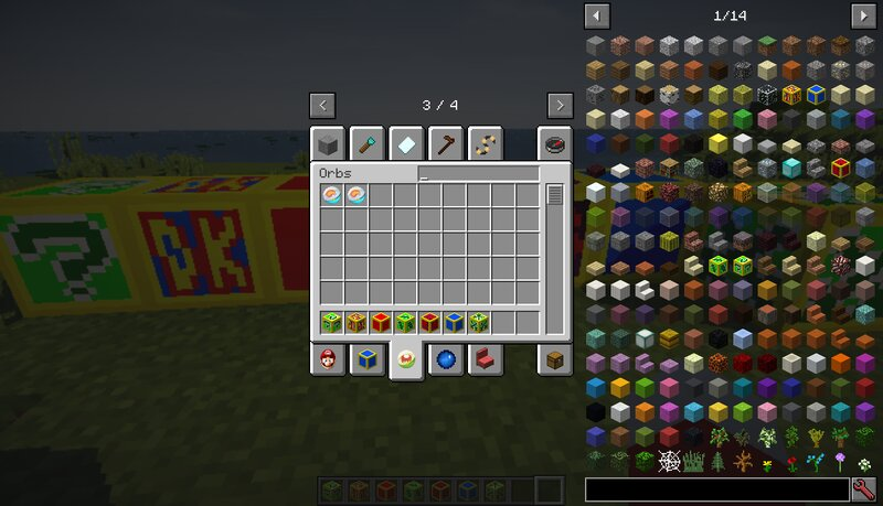 This tab is just a placeholder for orbs right now. The Torch Mod Orb I tried recreating from the TorchMod is just a work in progress, so I don't know when I'll be able to get the orbs done and working.