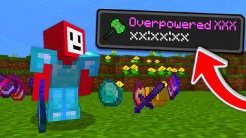 Minecraft But Everything Is OP !!! Minecraft Mod