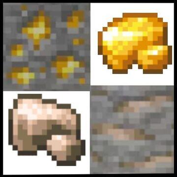 Raw Gold and Raw Iron -Mod- Minecraft Mod