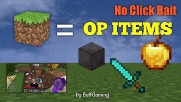 Minecraft, but Dirt Block gives OP Items Minecraft Mod