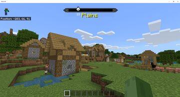 Skyrim Compass UI Bedrock Edition Minecraft Mod
