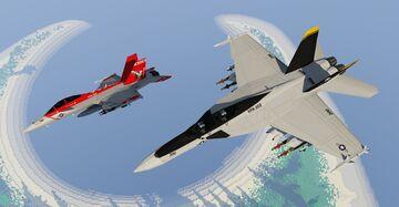 F/A-18F Super Hornet | MCHeli Content Minecraft Mod