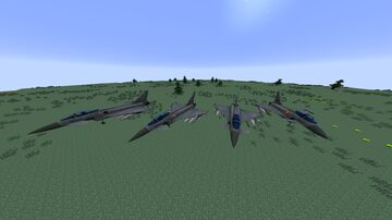 MCHeli Eurofighter Typhoon II Minecraft Mod