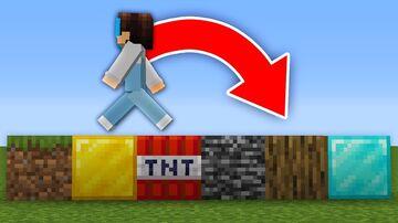 MINECRAFT BUT THE BLOCKS UNDER YOU ARE RANDOM (PLUGIN) Minecraft Mod