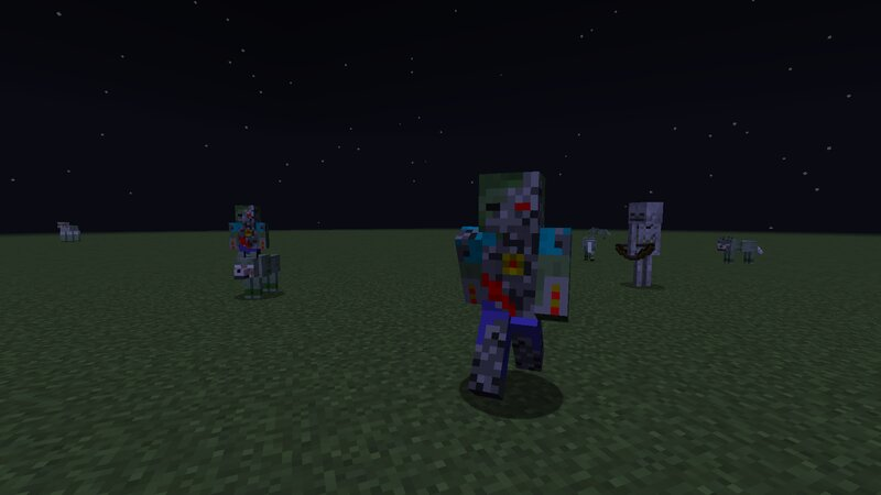 Robot Zombies And Zombie Wolves