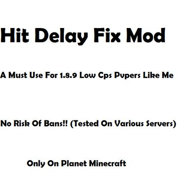 Hit-Delay-Fix Minecraft Mod