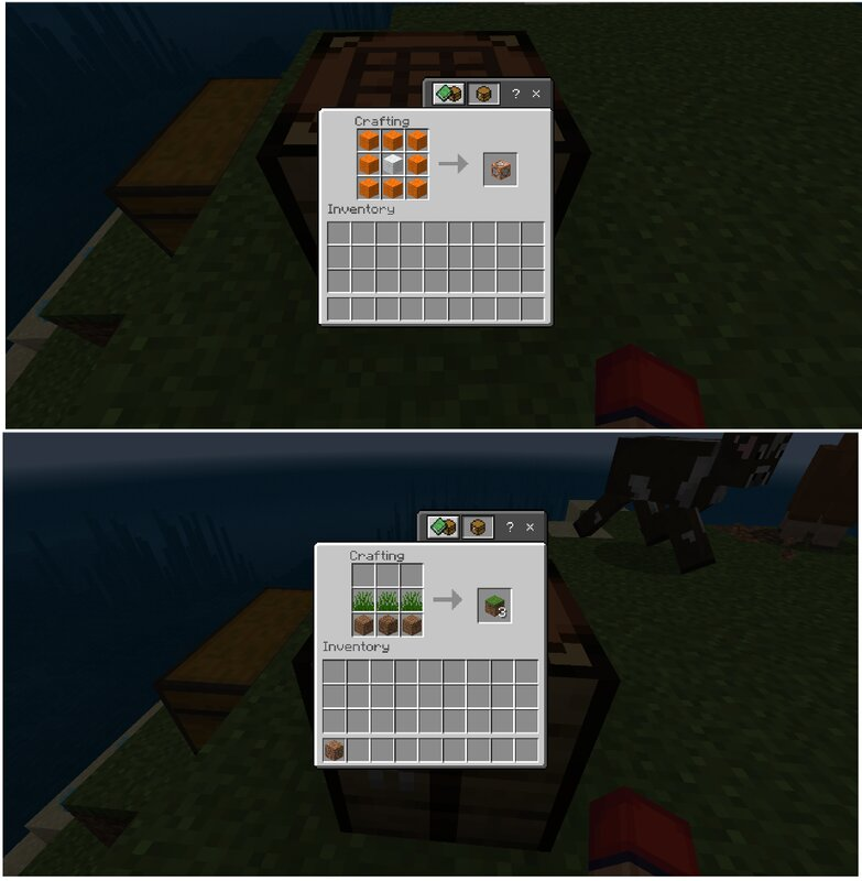 grass and command block
