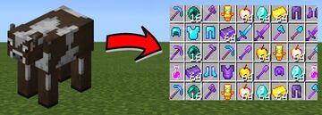 op cow drop Minecraft Mod